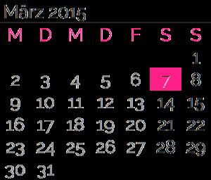 Samstag, 07. März2015