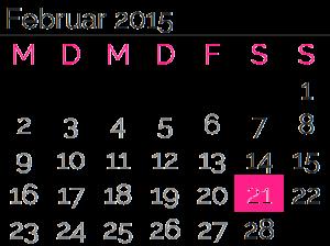 Samstag, 21. Februar2015