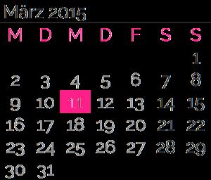 Mittwoch, 11. März2015