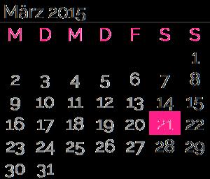 Samstag, 21. März 2015