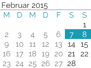 Samstag, 7. Februar 2015<br>Sonntag, 8. Februar 2015